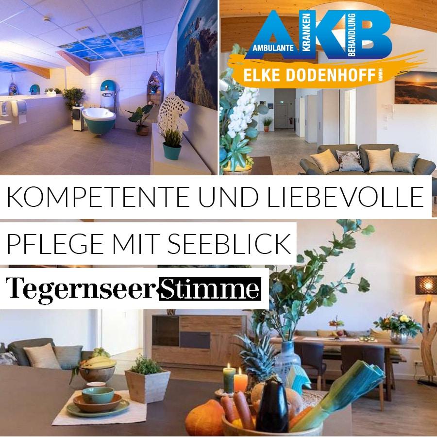 Kompetente und liebevolle Pflege mit Seeblick – die außerklinische Intensiv-WG der Elke Dodenhoff GmbH am Tegernsee