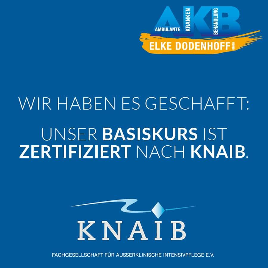 Basiskurs zertifiziert nach KNAIB